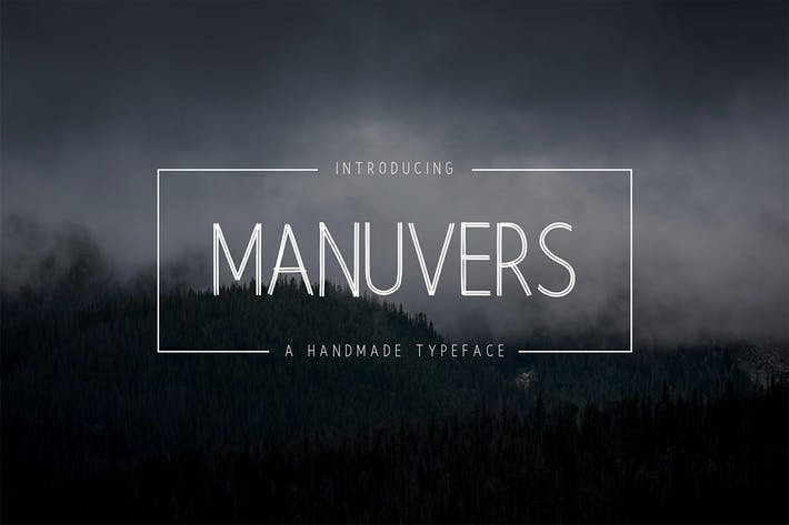 Thumbnail for Manuvers - Handmade Sans Font