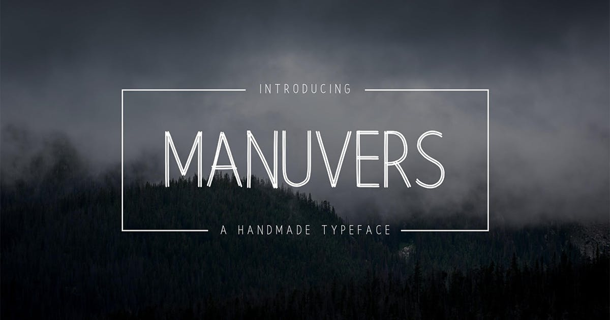 Download Manuvers - Handmade Sans Font by sameehmedia