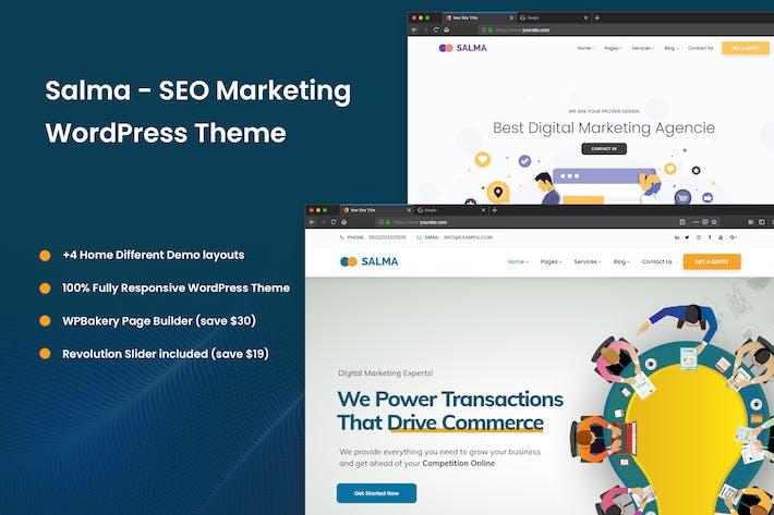 Thumbnail for Salma - SEO Marketing WordPress Theme