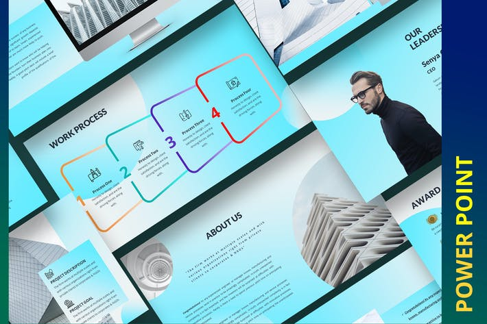 Thumbnail for Gakuin Construction Building Power Point Template