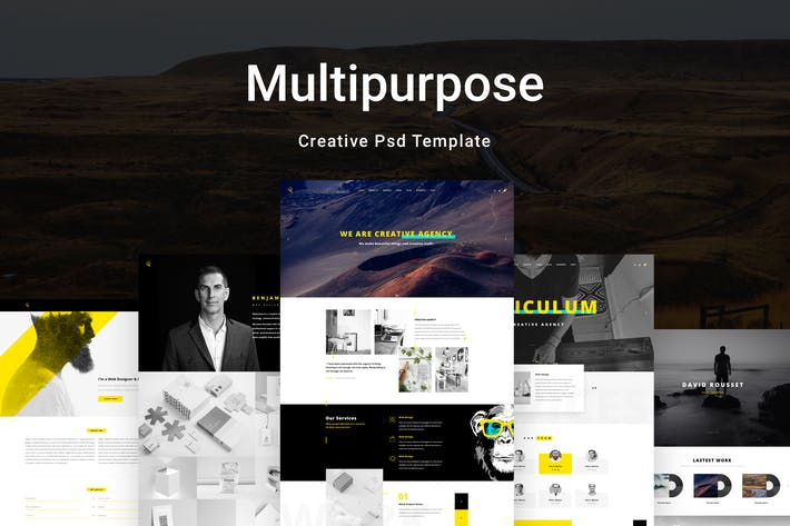 Cover Image For Reticulum - Creative Psd Template
