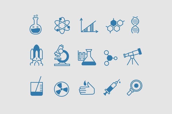 Thumbnail for 15 Science Doodle Icons