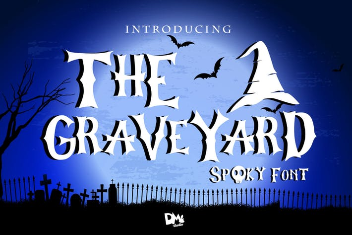 Thumbnail for The Graveyard - Spooky Font