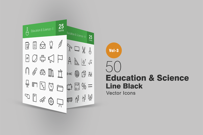 Thumbnail for 50 Education & Science Line Icons