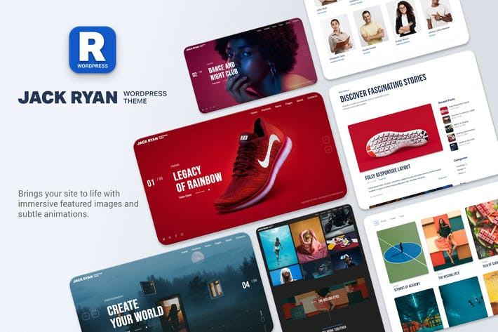 Thumbnail for Jack Ryan - Creative Portfolio WordPress Theme