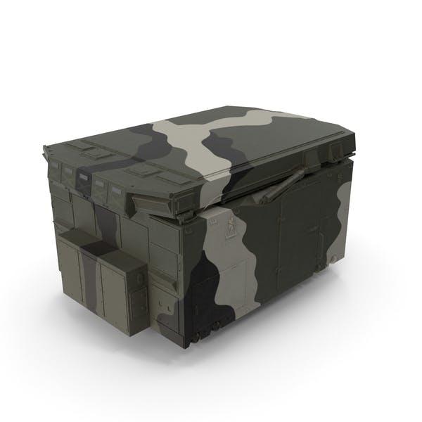 Camouflage Flap Lid B Missile Guidance Radar Folded