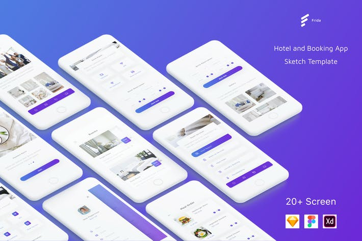 Thumbnail for Frida - Hotel UI Kit