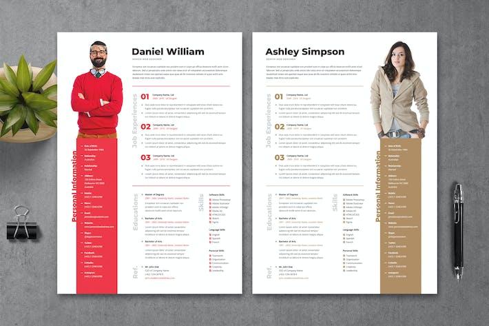 Thumbnail for Resume CV Template 14
