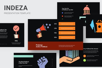 Indeza - Political Infographic Powerpoint