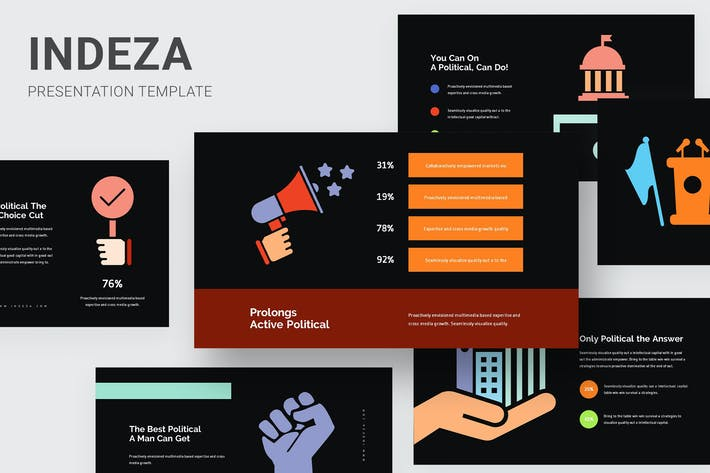 Thumbnail for Indeza - Political Infographic Powerpoint