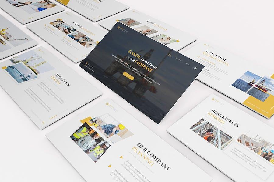 Gasol Company Google Slides Template