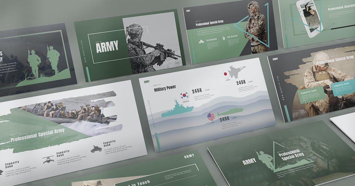 Download Army Keynote Templates by StockShape