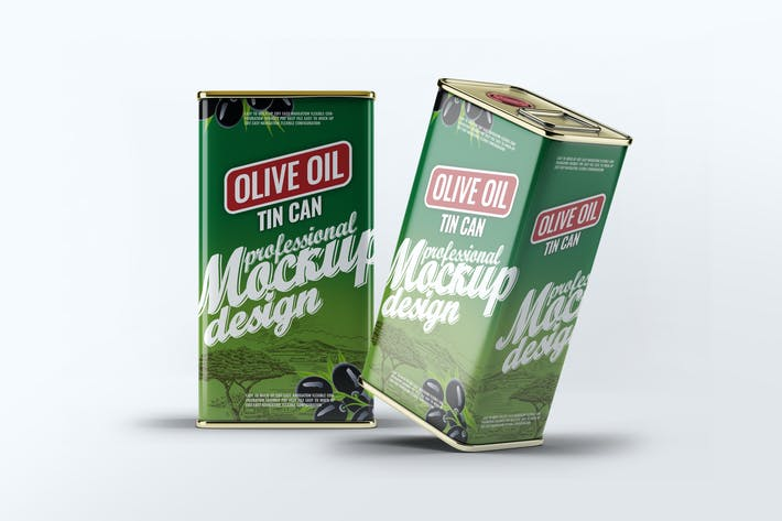 Thumbnail for Tin Can Olive Oil Mock-Up