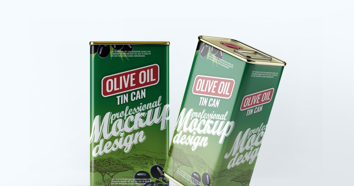 Download Tin Can Olive Oil Mock-Up by L5Design