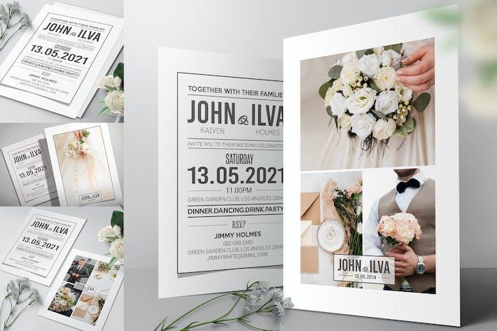 Cover Image For Einfache Hochzeitseinladung