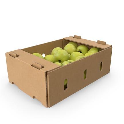 Caja Con Deliciosa Manzana Dorada Completa