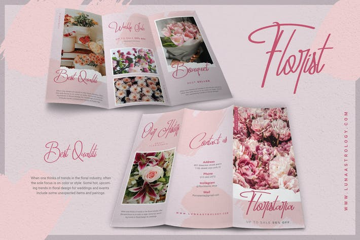 Thumbnail for Beauty Pink Florist - Brochure