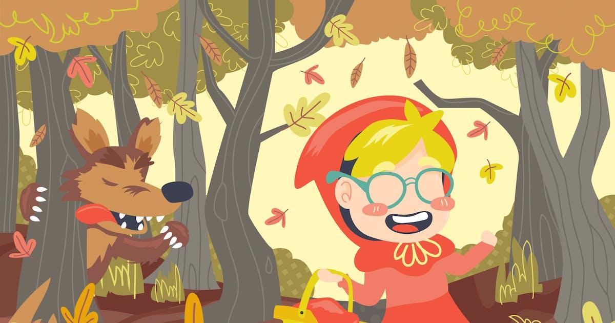 Download Little Red Riding Hood Illustration by Slidehack