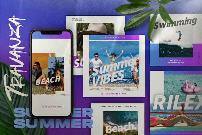Thumbnail for TRANSVANZA - Summer Social Media Template+Stories