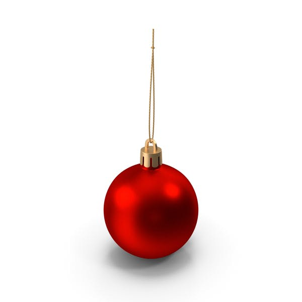 Red Metal Ball Ornament