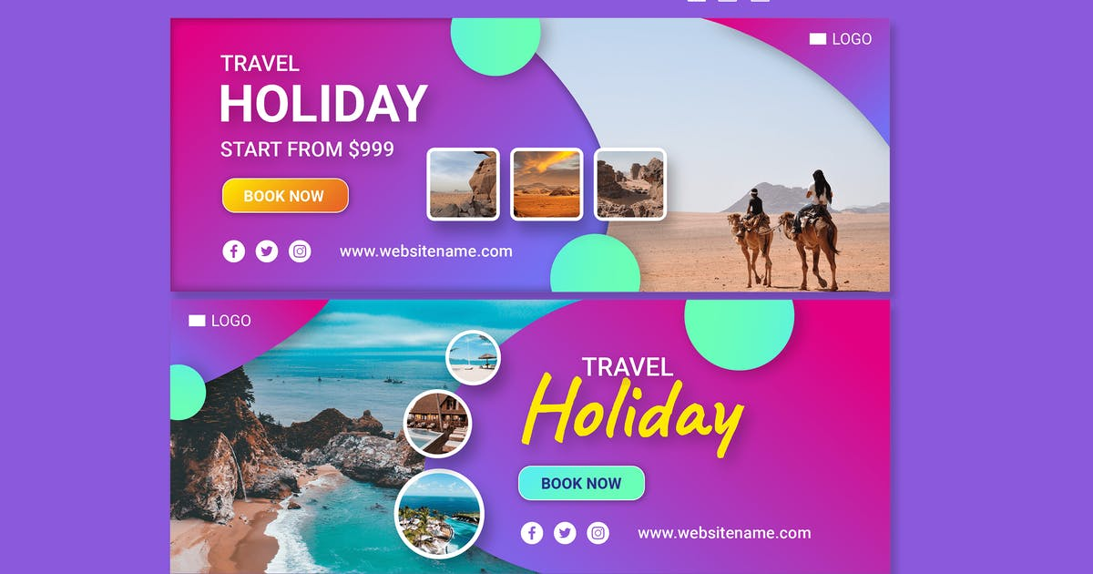 Download Facebook Banner - Holiday Travel by alphaleonis_std
