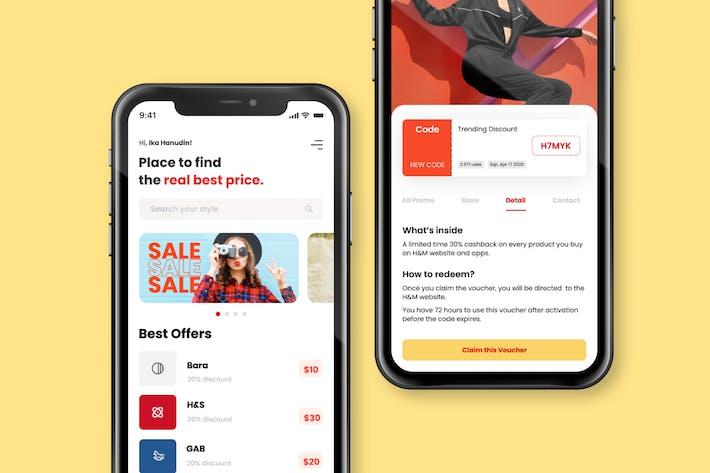 Thumbnail for Страница продукта электронной коммерции - Шаблон мобильного Приложение