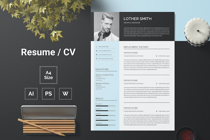 Thumbnail for Resume Template 125