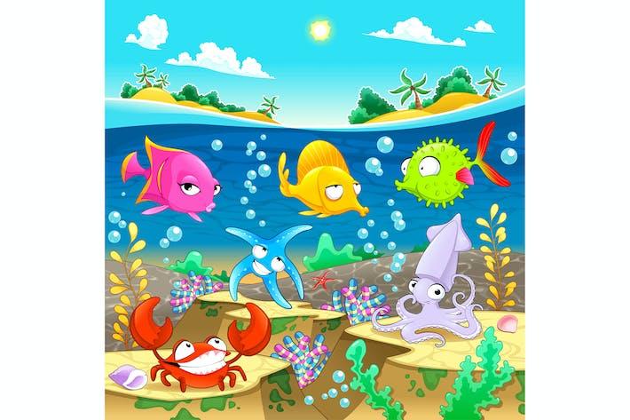 Cover Image For Marine Familie unter dem Meer