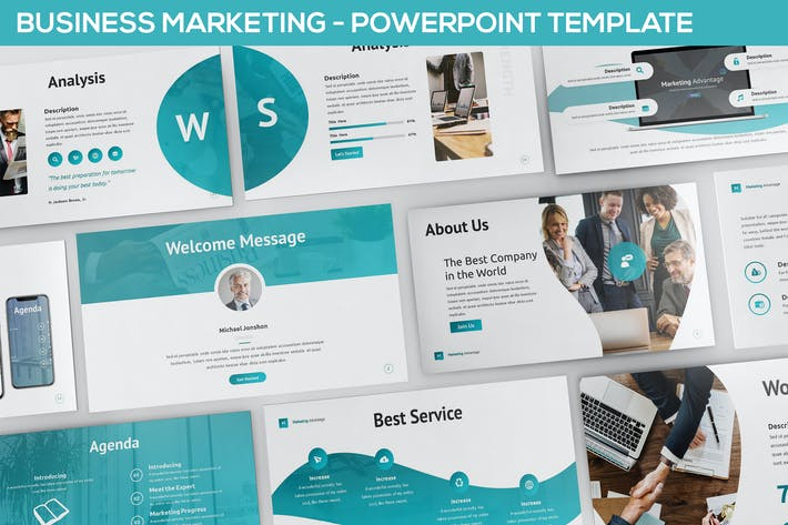 Thumbnail for Business Marketing - Powerpoint Template