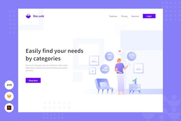 Find Your Needs Easily - Website Header