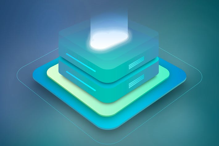 Cloud Server Hosting Isometric 3