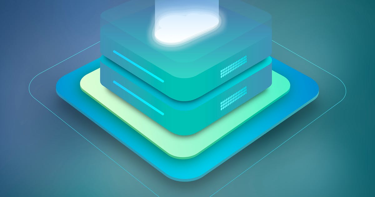 Cloud Server Hosting Isometric 3 by themeboo