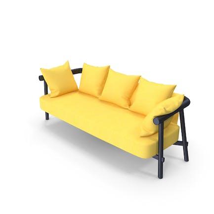 garden sofa yellow