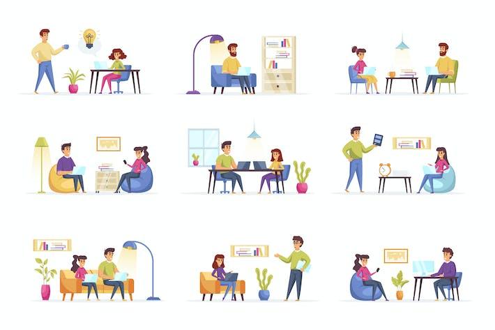 Thumbnail for Внештатные рабочие кадры персонажей ситуации
