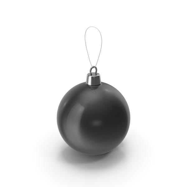 Рождественская елка игрушка черный