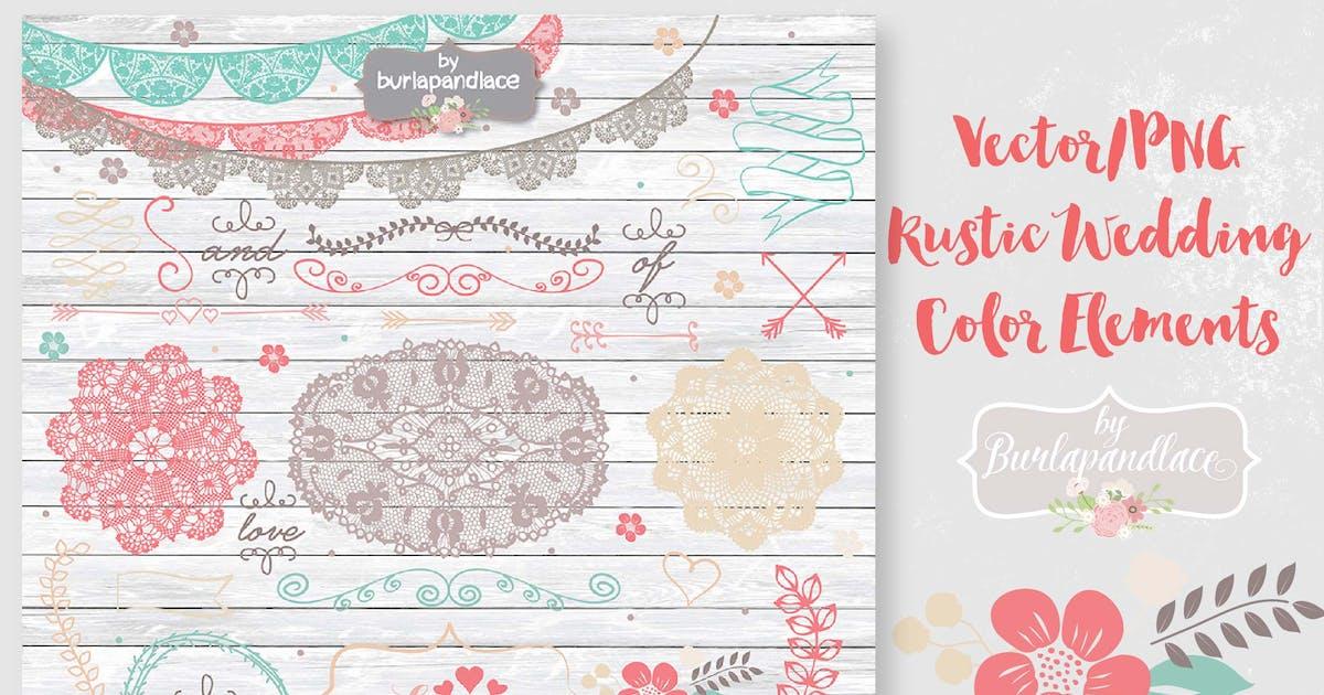 Download Vector/PNG  Rustic Wedding  Color Elements by burlapandlace