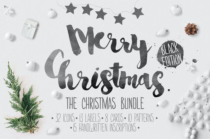 Thumbnail for Christmas bundle hand-drawing icons