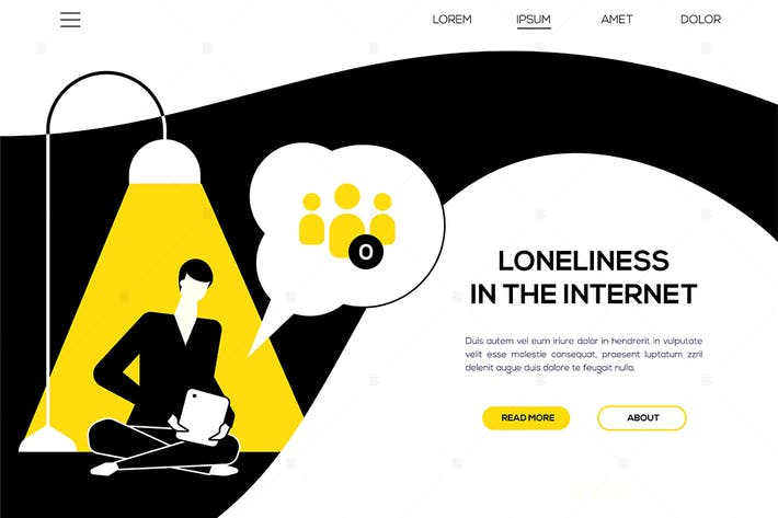 Thumbnail for Loneliness in the Internet - web banner