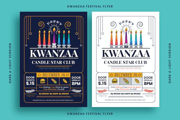 Kwanzaa Flyer Template