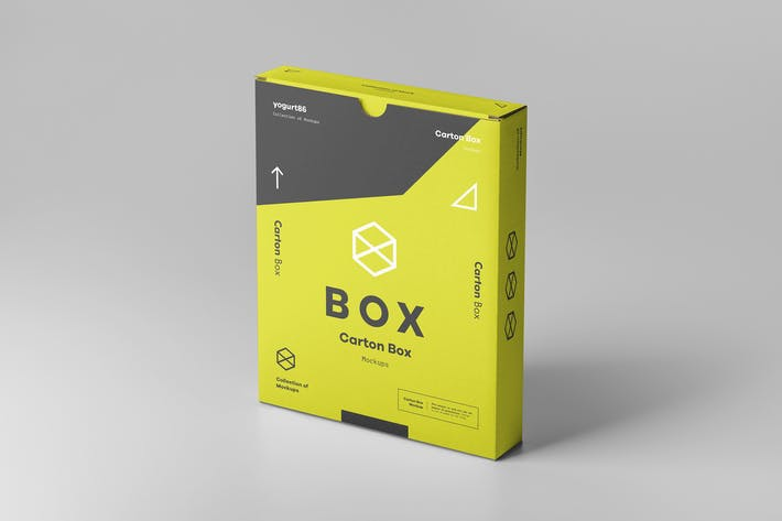 Thumbnail for Flat Carton Box Mockup