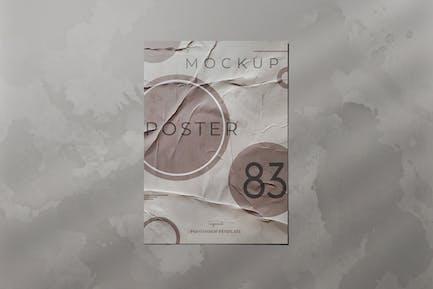 Zerknittertes Papier Poster Mockup