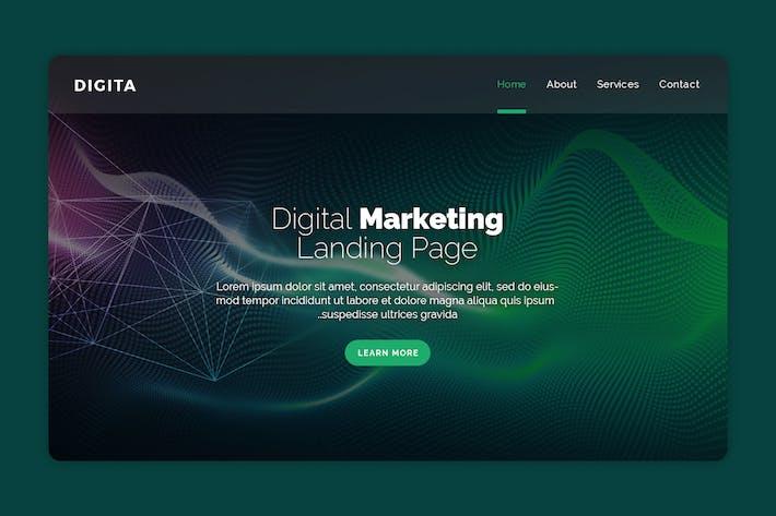 Thumbnail for Digital - Premium Landing Page Banner
