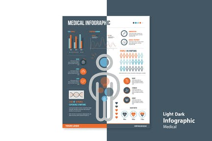 Infographic Chart Elements for Medical