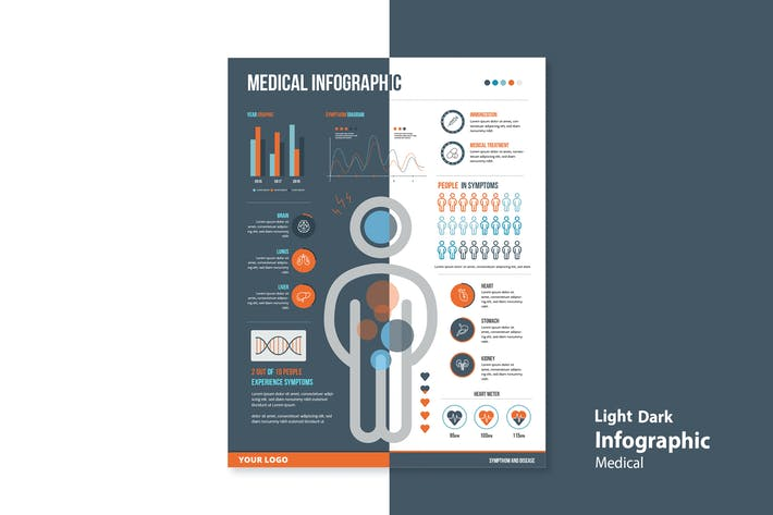 Thumbnail for Infographic Chart Elements for Medical