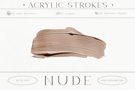 Nude. Acrylic Strokes