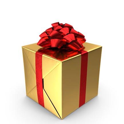 Geschenk Gold und Rot
