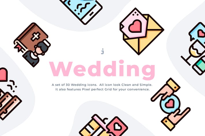 Thumbnail for 30 Wedding Icon set