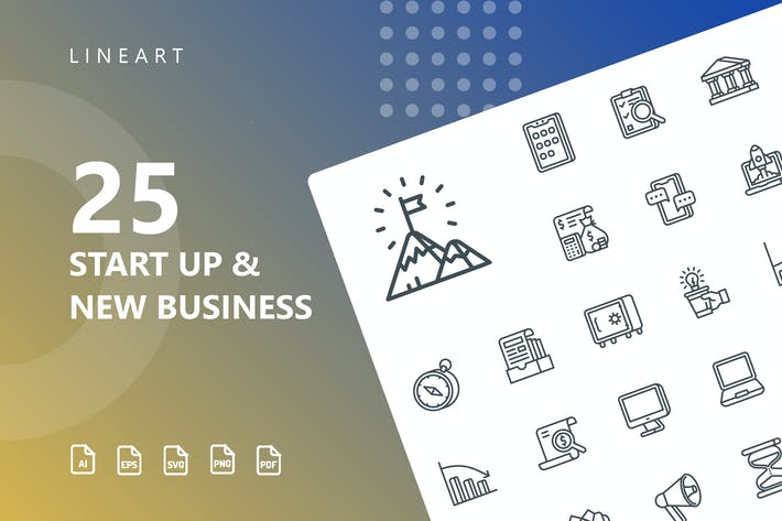 Thumbnail for Start Up & Business Line Icons