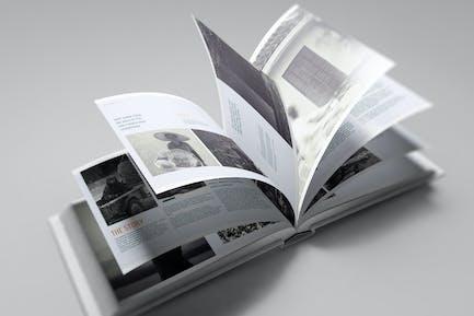 US-Landschaftsbuch Mockup