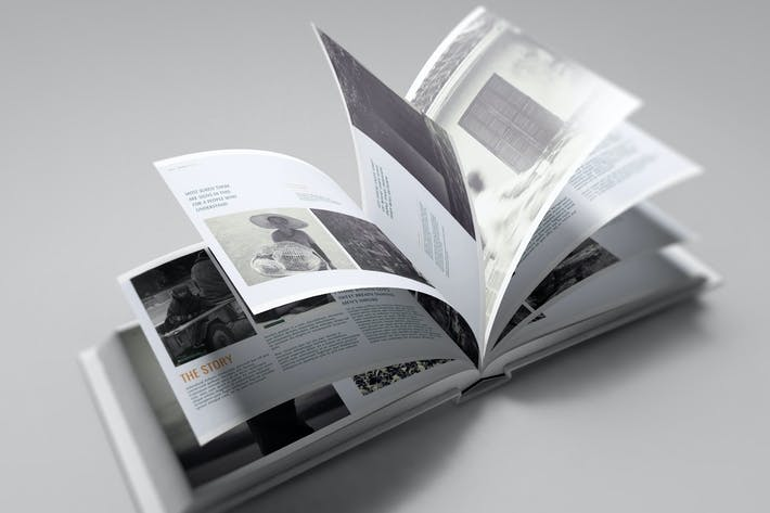 Thumbnail for US Landscape Book Mockup
